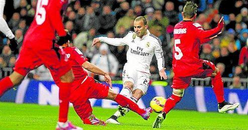 Jes� hizo uno de los dos goles madridistas en la �ltima visita nervionense al Bernab�u, saldada con derrota.