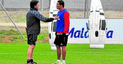 Emery y Bacca, en un entrenamiento.