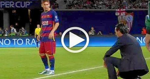 Messi es experto en anotar de libre directo ante el Sevilla.