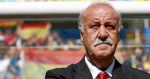 En la imagen, el seleccionador nacional, Vicente Del Bosque.