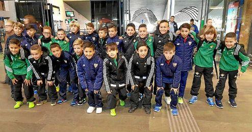 Ambos equipos han salido unidos hacia Valladolid.
