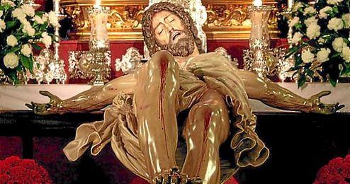 Imagen del Stmo. Cristo de las Cinco Llagas, de la Hermandad de la Trinidad.