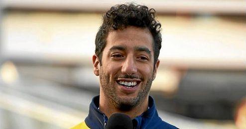 Ricciardo, durante un acto promocional con Red Bull.