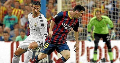 Messi y Ronaldo, en un Cl�sico de la Liga.