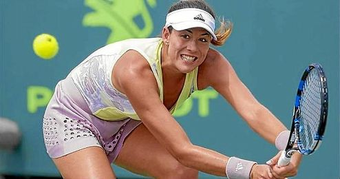 En la imagen, la tenista hispanovenezolana Garbi�e Muguruza.