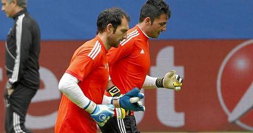 Ambos porteros coincidieron en el Real Madrid.