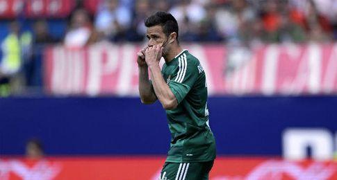 Rubén Castro, celebrando su gol en el Calderón.