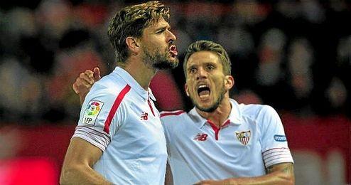 Llorente celebra un gol en Liga ante el Eibar.