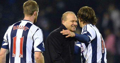 Pepe Mel, durante su etapa como entrenador del West Brom.