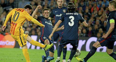 Imagen del partido de ida disputado en el Camp Nou.