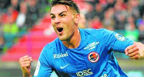 Andy Delort, de 24 años y 182 cm de altura, lleva diez tantos anotados en la presente Ligue 1.