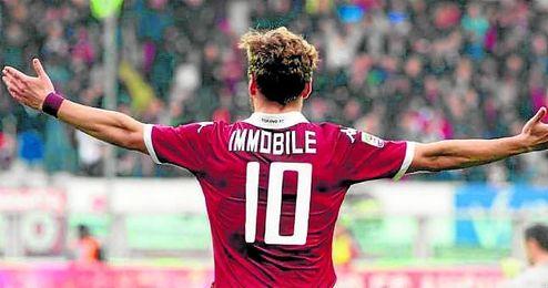 Ciro Immobile está cedido por el Sevilla en el Torino.