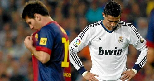 Leo Messi y Cristiano Ronaldo durante un �Cl�sico�