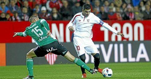 Imagen del derbi de Copa en el S�nchez Pizju�n.