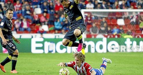 Alen Halilovic, en el suelo.
