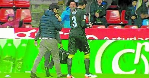 Rami se marchó lesionado del terreno de juego.