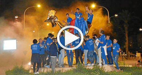 As� celebr� el Santa Mar�a su ascenso a Segunda Andaluza