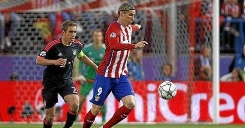 Fernando Torres, en un lance del partido.
