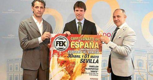 David Guevara, en la presentación del Campeonato de España de Kick Boxing.