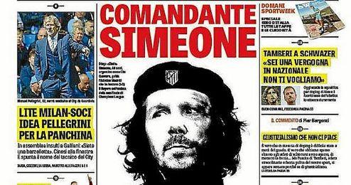 Simeone, protagonista en italia