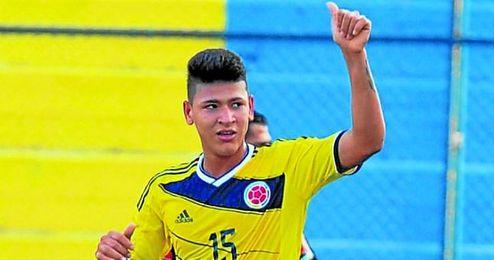 Jorge Carrascal, con la elástica de la selección colombiana sub 17.