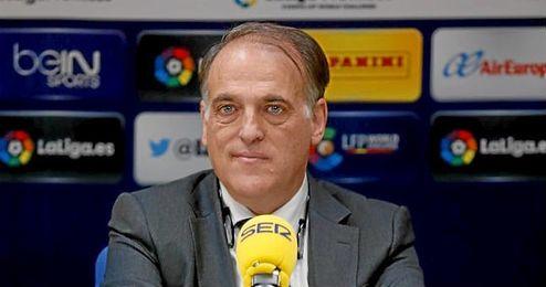 Javier Tebas, presidente de la Liga de Fútbol Profesional.