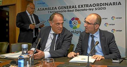Javier Tebas, presidente de la LaLiga.