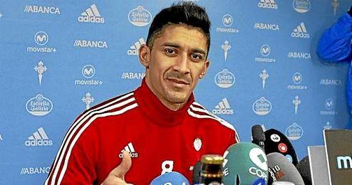 El chileno en rueda de prensa