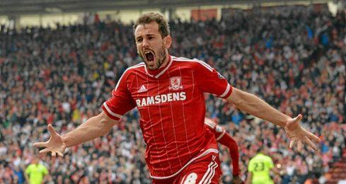 Stuani anotó el gol que da el ascenso al Boro.