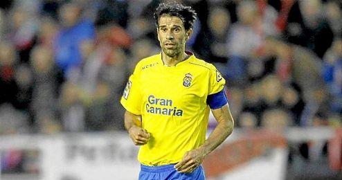Valerón, durante un partido con la UD Las Palmas.