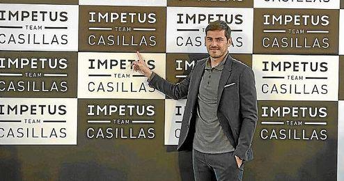 Casillas durante el acto promocional.
