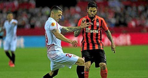 El brasileño Marlos, durante el Sevilla-Shakhtar disputado en el Sánchez Pizjuán.