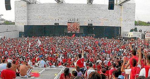 Esta vez, el sevillismo, no podrá disfrutar de la final en el Auditorio Rocío Jurado.