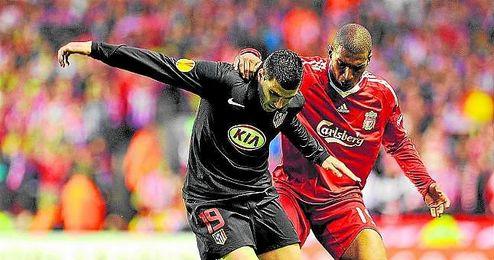 José Antonio Reyes, en la eliminatoria contra el Liverpool.
