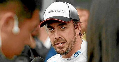 Alonso, tras abandonar en Montmeló.