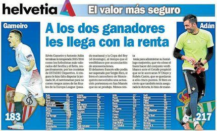 Ad�n y Gameiro, los m�s valorados en sus respectivos equipos.