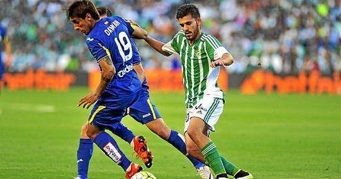 Dani Ceballos, durante el partido ante el Getafe.