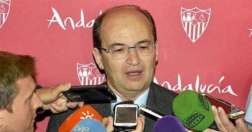 Jos� Castro, presidente del Sevilla, en San Pablo.