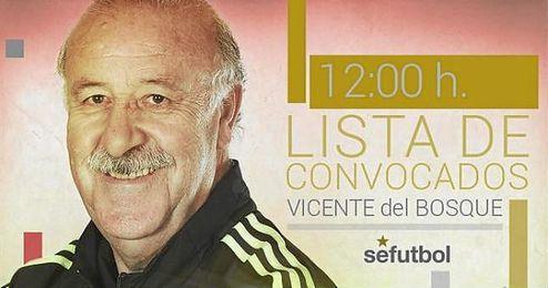 Vicente del Bosque comparece hoy a las 12:00 h.