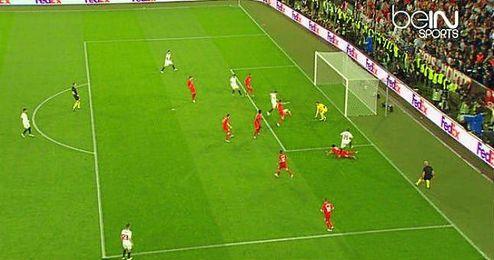 Gol del empate de Gameiro.