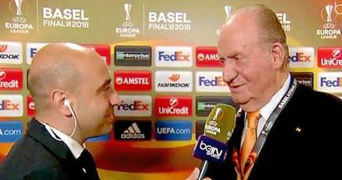 D. Juan Carlos I arenga al Sevilla.