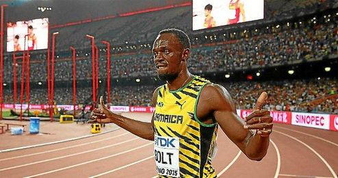 Bolt, celebra la victoria