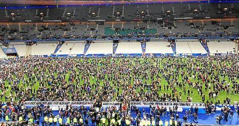 Evacuación del Stade de France el pasado 13 de noviembre.
