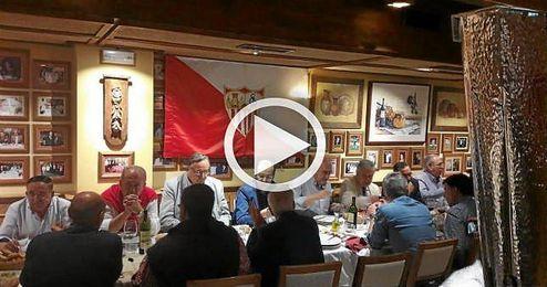 La Europa League estuvo presente en la cena.