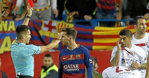 El argentino, expulsado en la final copera.