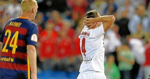Kruchowiak se lamenta durante la final de la Copa del Rey.