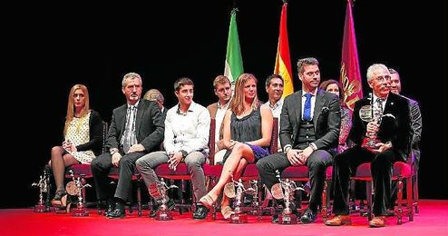 Imagen de los deportistas y representantes de entidades reconocidos durante la edición del pasado año de la Fiesta del Deporte de Sevilla.