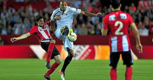 Steven N´Zonzi, durante el partido contra el Athletic.