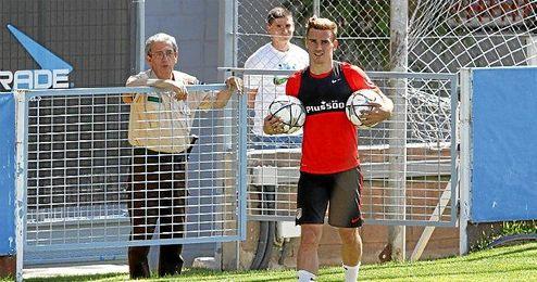 Griezmann durante el último entrenamiento