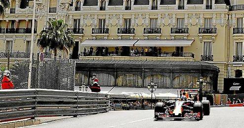 Ricciardo durante los entrenamamientos